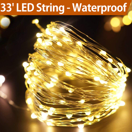 Bright Zeal 33' Long LED String Lights with timer - DIY