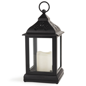 Bright Zeal Vintage Candle Lanterns with LED Flickering Flameless Candles (Black, 10