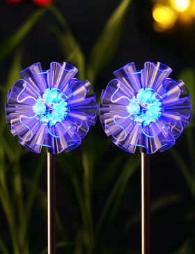 BRIGHT ZEAL Set of 2 Solar Powered Garden Stake Lights with Vivid Figurines in Life Sizes (Dandelion)