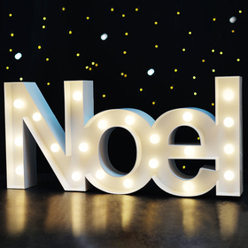 BRIGHT ZEAL Big Lighted Christmas Marquee Signs