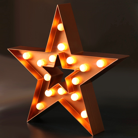 BRIGHT ZEAL Decorative Marquee Sign STAR LED Lights (Cinnamon, Timer)